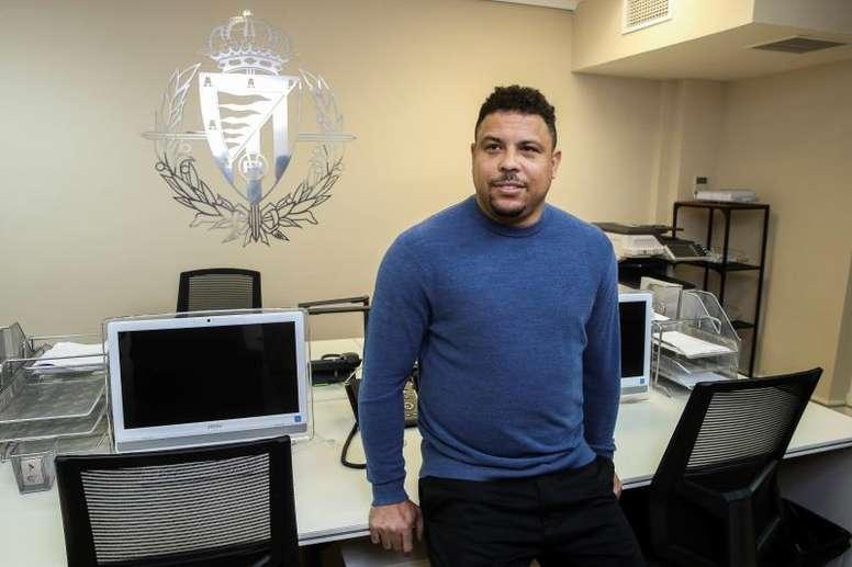Ronaldo Nazario, ex-jogador e atual presidente do Real Valladolid.EFE/Emilio Naranjo/Arquivo
