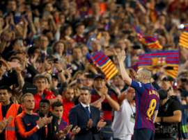 Iniesta n'a jamais caché son envie de retourner au FC Barcelone. EFE