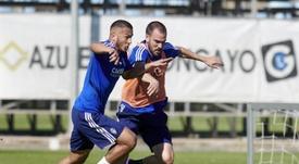 Atienza lleva siendo importante desde el curso pasado, cuando Luis Suárez era compañero suyo. EFE