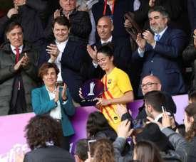 Marta Torrejón firmó nuevo contrato con el club. EFE