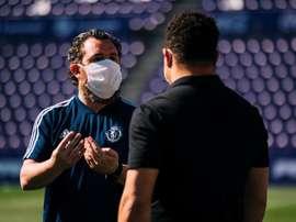Sergio pierde a Míchel y sueña con la permanencia. EFE