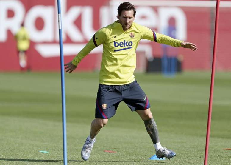 Messi's latest solidarity initiative in light of the health crisis. EFE