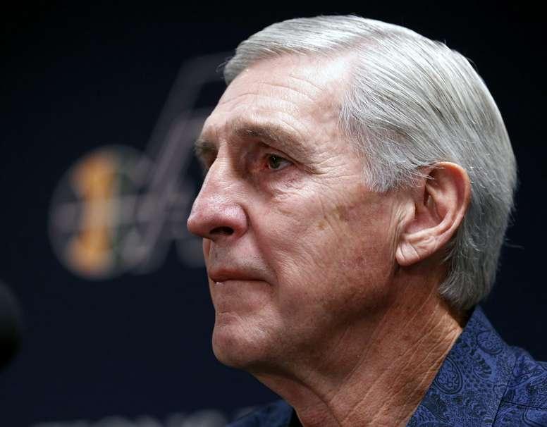 El histórico entrenador de los Jazz de Utah Jerry Sloan. EFE/George Frey/Archivo