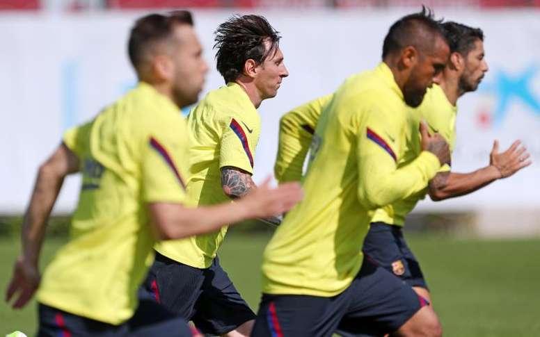 Barça chegou a ter sete positivos. EFE/ FC Barcelona / Miguel Rui