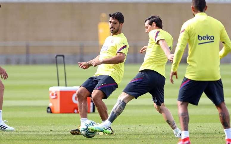 Luis Suárez estará à disposição de Quique Setien para o confronto em Son Moix contra o Mallorca. AFP
