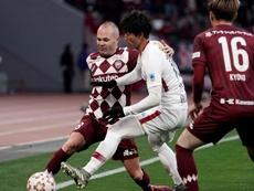 Iniesta, decisivo para la J-League. EFE