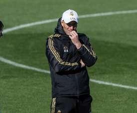 Zinédine Zidane a dirigé une nouvelle séance d'entraînement ce jeudi. EFE