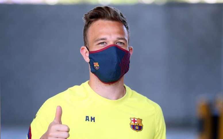 Arthur ne souhaiterait plus terminer la saison avec le Barça. efe