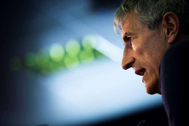 Setién no sabe cómo será la vuelta ni qué escenario le espera al Barça. EFE