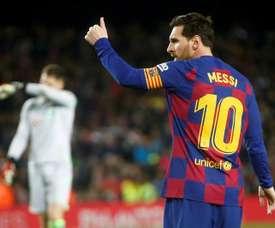 Messi es uno de los referentes de Nakagawa. EFE