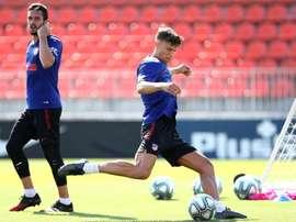 Joao Félix, absent de l'entraînement ce samedi. EFE