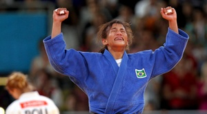 La judoca brasileña Sarah Menezes. EFE/ORESTIS PANAGIOTOU/Archivo