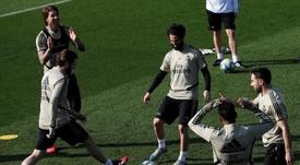 Nacho analizó el estado de forma del Madrid. EFE