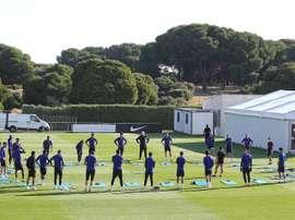 Os 14 jogadores que perderão a volta do Campeonato Espanhol. EFE