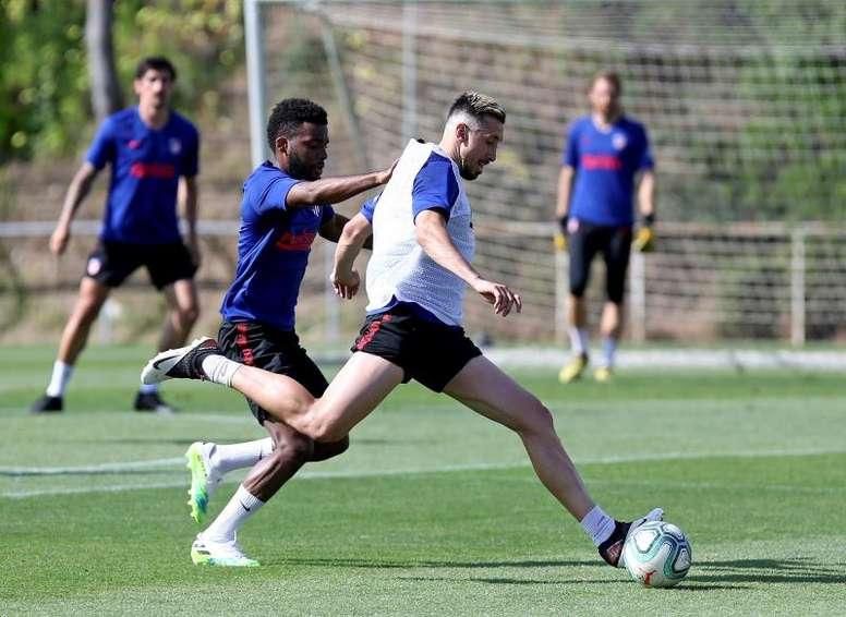 Atlético começou sua semana de retorno aos treinos com todo o grupo junto. EFE/Atlético de Madrid