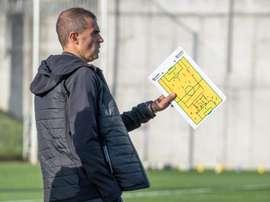 La plantilla del Athletic Club volvió a entrenar en un solo grupo. EFE