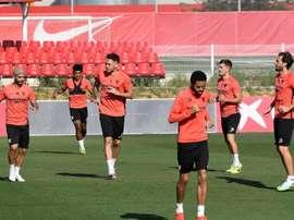 El Sevilla recordó a José Antonio Reyes un año después de su fallecimiento. EFE
