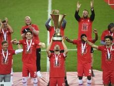 El Red Bull Salzburg se proclamó campeón de Copa este fin de semana. EFE/EPA