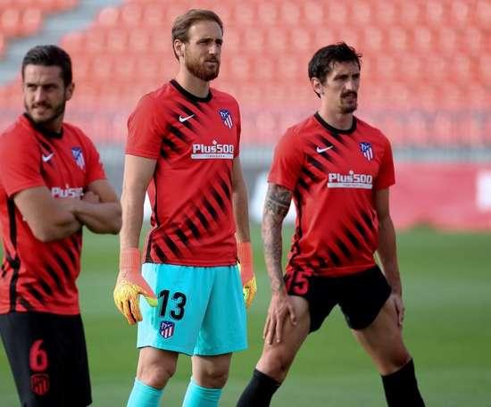 Oblak, Savic e Saponjic aproveitam as férias na Itália. EFE/Atlético de Madrid