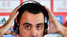 Xavi no ocultó que quiere volver al Barcelona. EFE