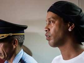 Ronaldinho, rumo a três meses preso no Paraguai. EFE/Nathalia Aguilar
