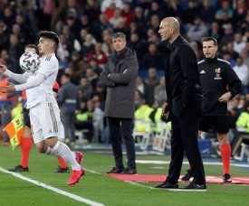 Brahim Díaz chegou no meio da temporada 2018-19 ao Real Madrid. EFE/Kiko Huesca/Arquivo