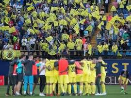 El Villarreal ya sabe cómo hacer frente a las gradas vacías. EFE