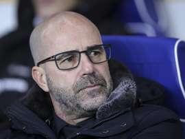 Bosz puede hacer historia si el Bayer Leverkusen se impone al Bayern. EFE