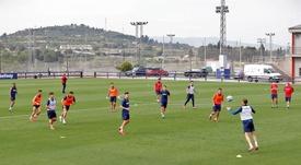 El Levante tuvo su primer partido de 11 contra 11. EFE