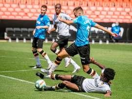 O Valência voltou a pisar em Mestalla quase três meses depois. EFE
