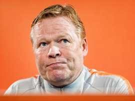 Técnico da Holanda quer treinar o Barça. EFE/ Koen Van Weel