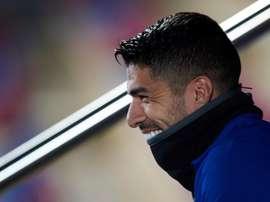 Luis Suárez, sonrisa del gol en el Barça. EFE