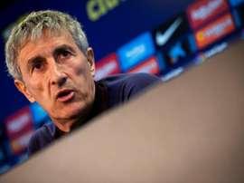 Setién speaks about Barcelona's commitment. EFE