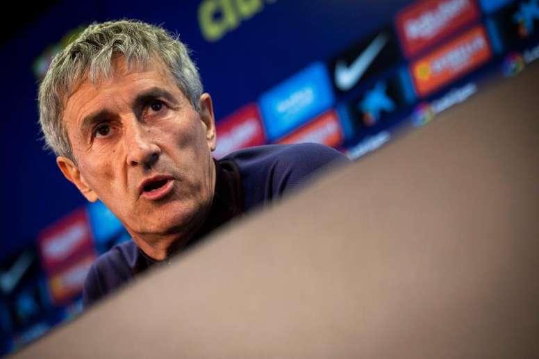 Quique Setién falou sobre lances polêmicos do jogo do Real Madrid.EFE/ Enric Fontcuberta/Arquivo