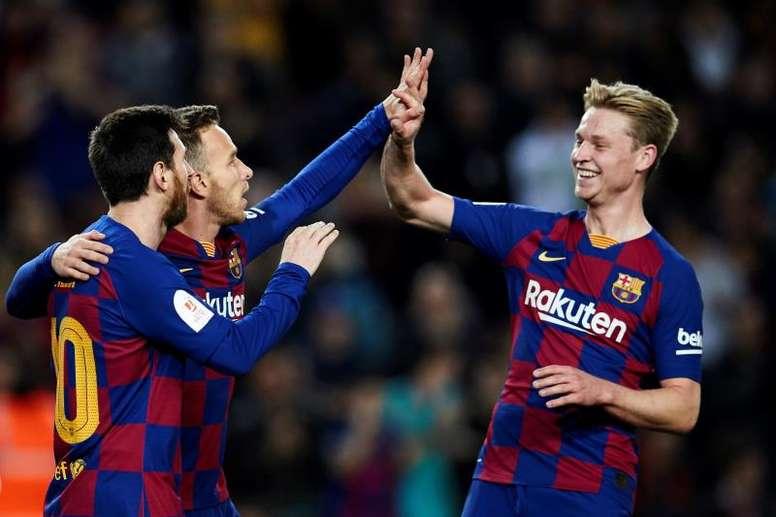 De Jong elogió a Leo Messi. EFE