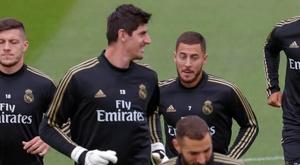 Courtois falou sobre o jogo contra o City. EFE/Emilio Naranjo