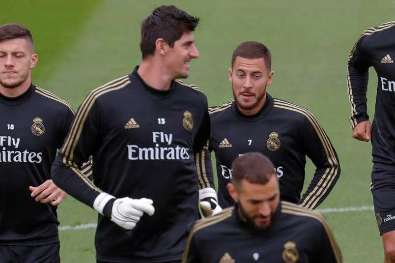 Courtois talked ahead of Real Madrid's match with Man City. EFE