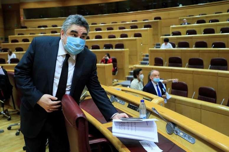El ministro de Cultura y Deporte habló sobre la vuelta del público a los estadios. EFE
