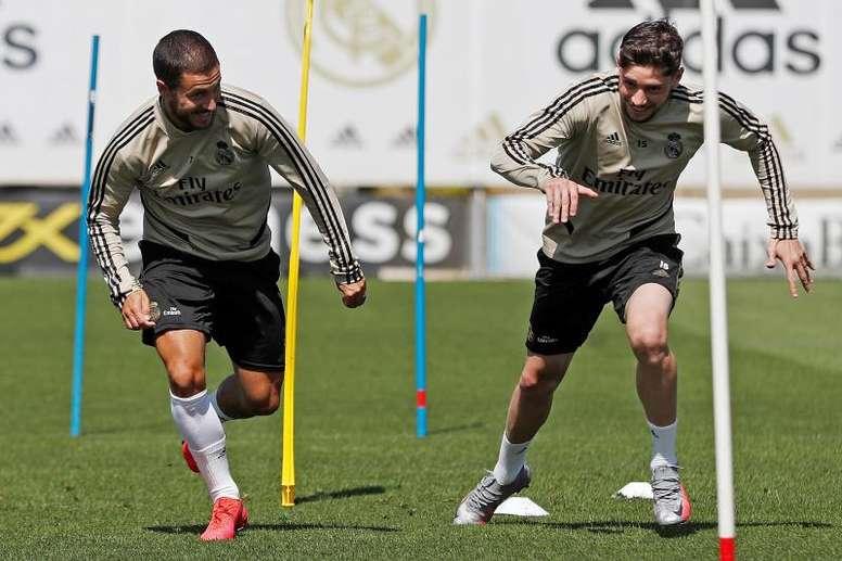 Hazard and Vinicius are in the squad. EFE