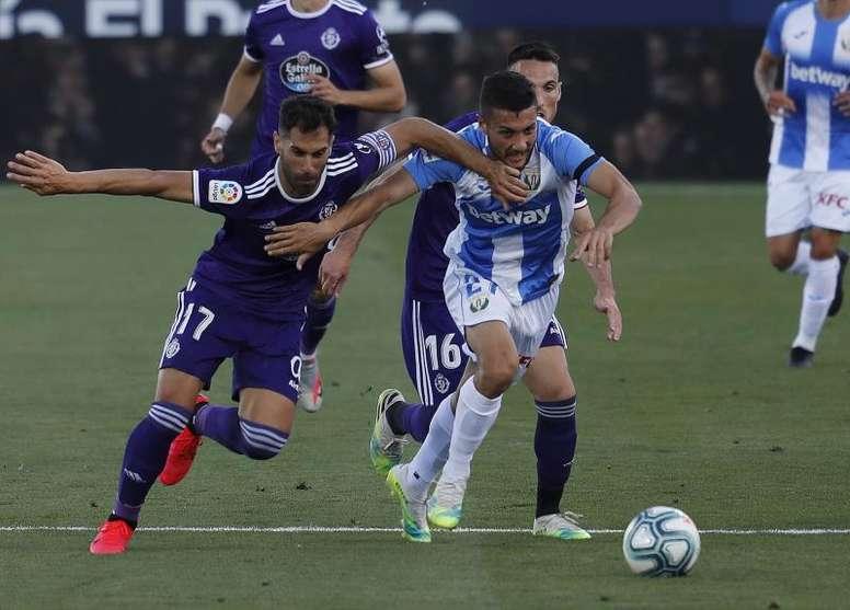 Milan aparece na luta por jogador do Leganés. EFE/Ballesteros