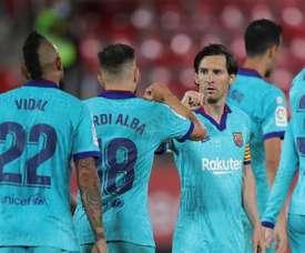 Barcelona vence por 4 a 0 na volta do Campeonato Espanhol. EFE/JuanJo Martín