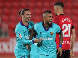 Griezmann acabou não marcando contra o Mallorca. EFE/Juanjo Martín