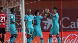 Barcelona beat Mallorca 4-0. EFE