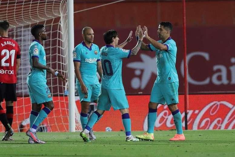 El Barcelona goleó sin despeinarse. EFE