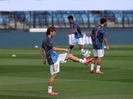 Modric, uno de los dos sancionados del Real Madrid. EFE