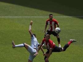 Saúl analizó el 1-1 del Atlético ante el Athletic. EFE