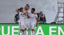 La cena de Ramos, Lucas Vázquez y Modric. EFE