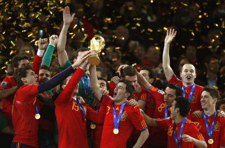 Se cumplen diez años de la conquista de España del Mundial. EFE