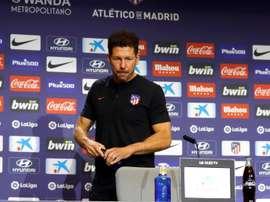 Diego Simeone foi perguntado sobre entrada tardia de Griezmann em campo. EFE/ Ballesteros/Arquivo