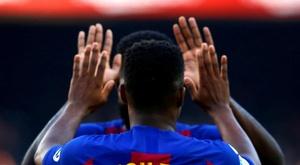 Ansu Fati marque le 9000e but de l'histoire du Barça. EFE